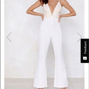 Nasty gal Embroidery Jumpsuit Studio